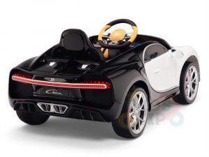 BUGATTI Kids toddlers ride car 12v rubber wheels rc leather seat remote control sport car super white 9