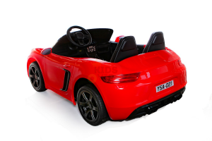 KIDSVIP XXL RIDE ON CAR FOR BIG KIDS 24V 180W RUBBER WHEELS LEATHER SEAT red 101