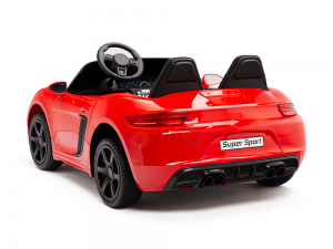 KIDSVIP XXL RIDE ON CAR FOR BIG KIDS 24V 180W RUBBER WHEELS LEATHER SEAT red 65