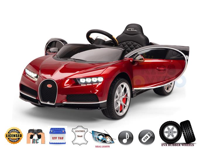 Official Bugatti Chiron 12V Kids and Toddlers Ride On Car, RC