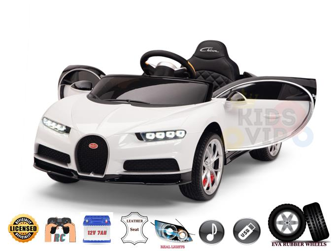 Bugatti Chiron 12V For Toddlers & Kids Ride On Car With Remote Control