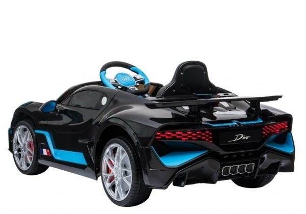 eng pl Electric Ride On Car Bugatti Divo Black Painted 4432 4