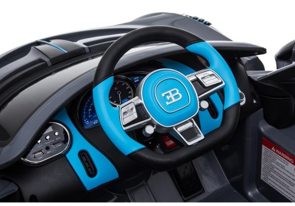 eng pl Electric Ride On Car Bugatti Divo Black Painted 4432 7