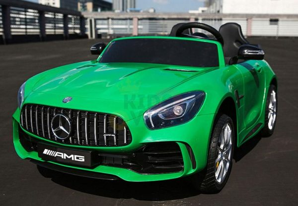 kidsvip mercedes benz gtr 2 seater kids and toddlers ride on car green 12