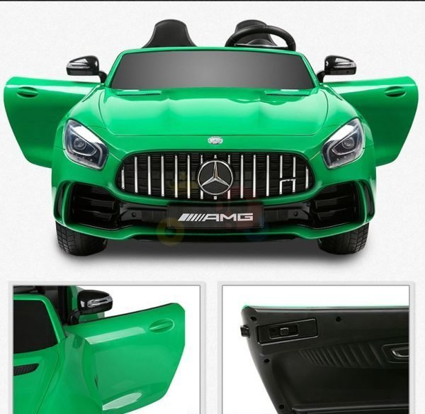 kidsvip mercedes benz gtr 2 seater kids and toddlers ride on car green 15