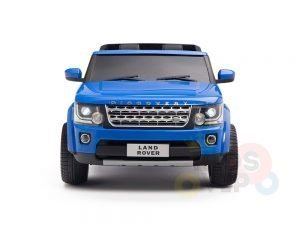 land rover discovery 2 seater kids toddlers ride na track car 12v rubber wheels leather rc blue 1