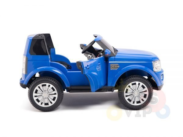 land rover discovery 2 seater kids toddlers ride na track car 12v rubber wheels leather rc blue 12