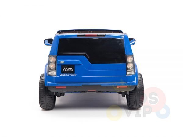 land rover discovery 2 seater kids toddlers ride na track car 12v rubber wheels leather rc blue 18