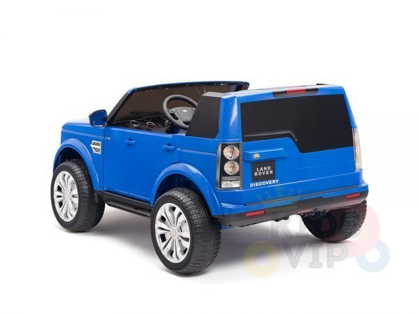 land rover discovery 2 seater kids toddlers ride na track car 12v rubber wheels leather rc blue 22