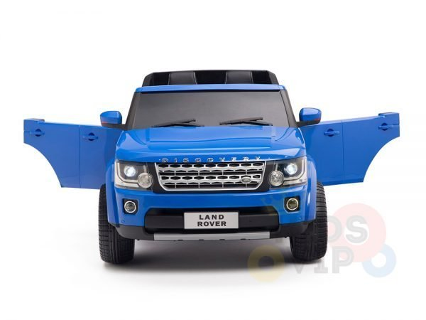 land rover discovery 2 seater kids toddlers ride na track car 12v rubber wheels leather rc blue 3
