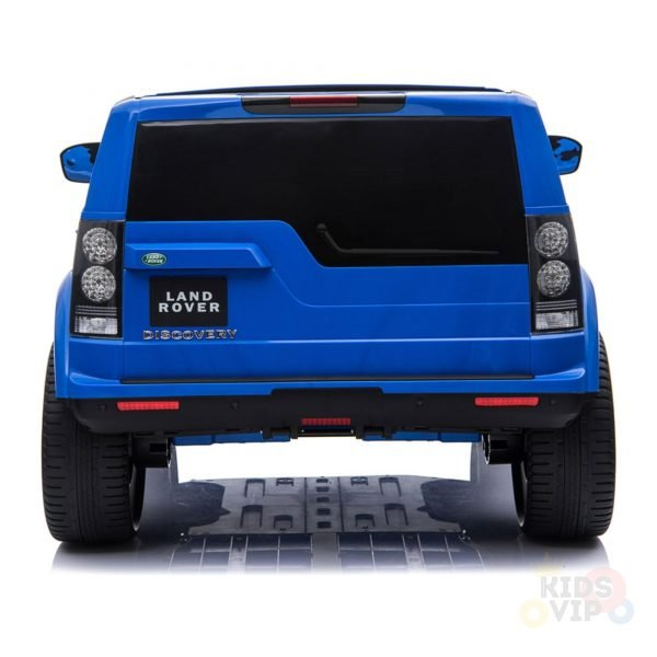 land rover discovery 2 seater kids toddlers ride na track car 12v rubber wheels leather rc blue 32