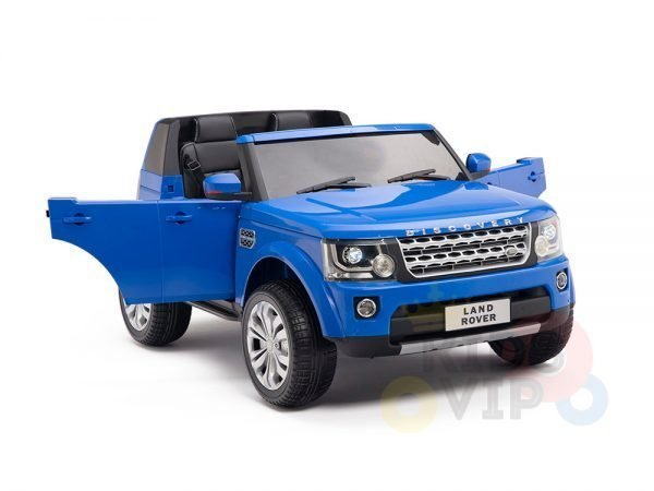 land rover discovery 2 seater kids toddlers ride na track car 12v rubber wheels leather rc blue 4
