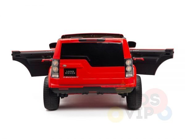 land rover discovery 2 seater kids toddlers ride na track car 12v rubber wheels leather rc red 12