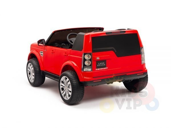 land rover discovery 2 seater kids toddlers ride na track car 12v rubber wheels leather rc red 14