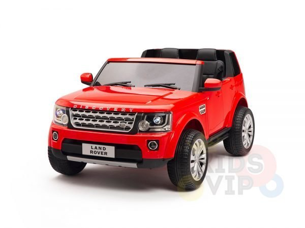 land rover discovery 2 seater kids toddlers ride na track car 12v rubber wheels leather rc red 18