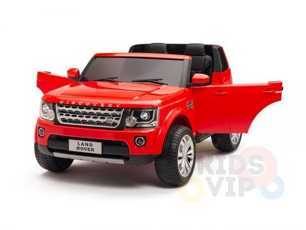 land rover discovery 2 seater kids toddlers ride na track car 12v rubber wheels leather rc red 20
