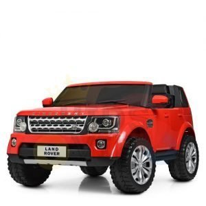 land rover discovery 2 seater kids toddlers ride na track car 12v rubber wheels leather rc red 23