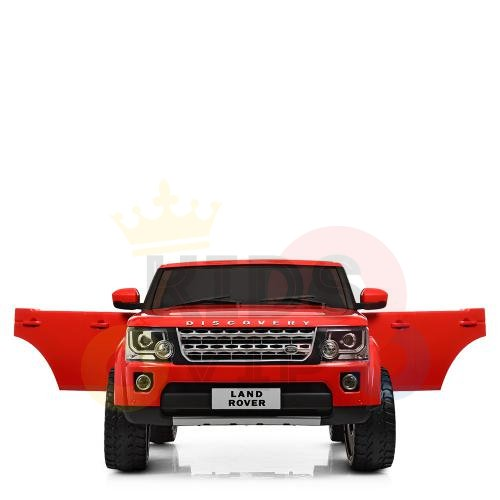 land rover discovery 2 seater kids toddlers ride na track car 12v rubber wheels leather rc red 24