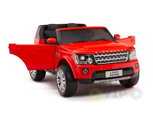land rover discovery 2 seater kids toddlers ride na track car 12v rubber wheels leather rc red 28