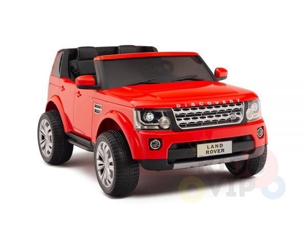 land rover discovery 2 seater kids toddlers ride na track car 12v rubber wheels leather rc red 29