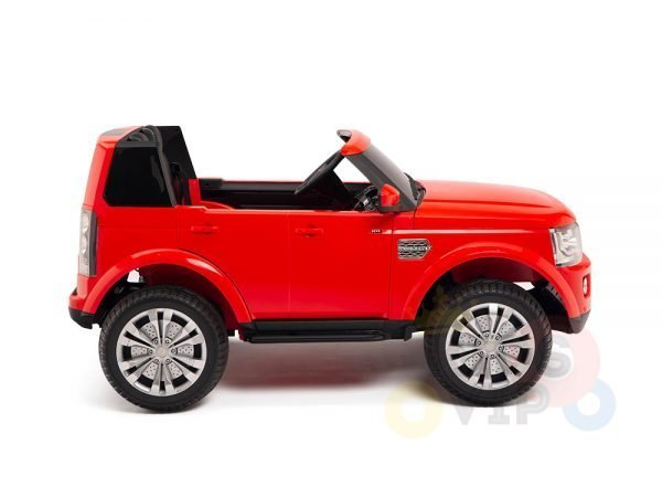 land rover discovery 2 seater kids toddlers ride na track car 12v rubber wheels leather rc red 3