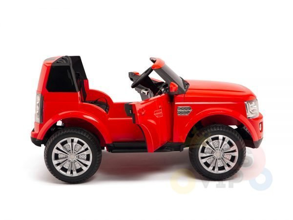 land rover discovery 2 seater kids toddlers ride na track car 12v rubber wheels leather rc red 4