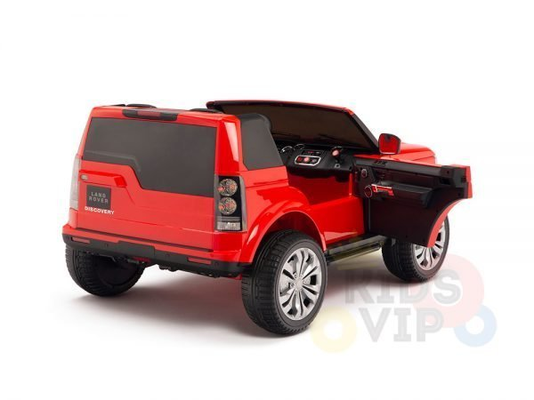 land rover discovery 2 seater kids toddlers ride na track car 12v rubber wheels leather rc red 5
