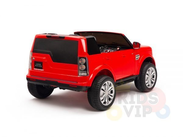 land rover discovery 2 seater kids toddlers ride na track car 12v rubber wheels leather rc red 9