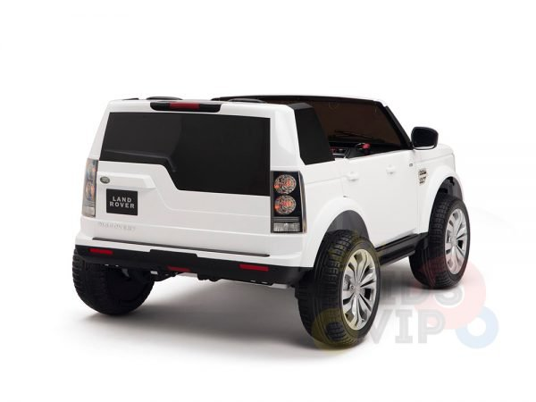 land rover discovery 2 seater kids toddlers ride na track car 12v rubber wheels leather rc white 5