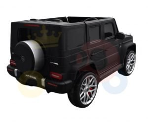 mercedes benz g63 gvagon 24v kids and toddlers ride on car suv rc dull matte black 1
