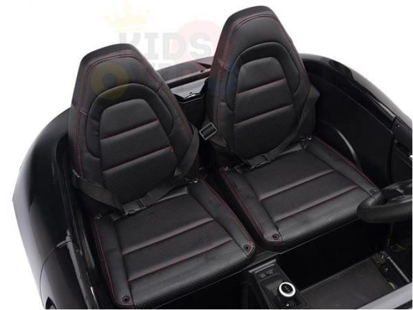 KIDSVIP XXL RIDE ON CAR FOR BIG KIDS 24V 180W RUBBER WHEELS LEATHER SEAT black 3 1