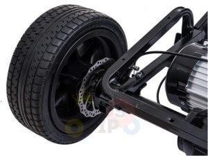 KIDSVIP XXL RIDE ON CAR FOR BIG KIDS 24V 180W RUBBER WHEELS LEATHER SEAT black 32