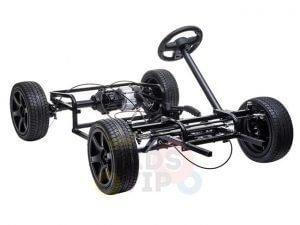 KIDSVIP XXL RIDE ON CAR FOR BIG KIDS 24V 180W RUBBER WHEELS LEATHER SEAT black 34