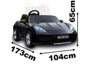 KIDSVIP XXL RIDE ON CAR FOR BIG KIDS 24V 180W RUBBER WHEELS LEATHER SEAT black 45