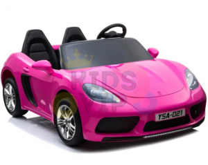 KIDSVIP XXL RIDE ON CAR FOR BIG KIDS 24V 180W RUBBER WHEELS LEATHER SEAT pink 2