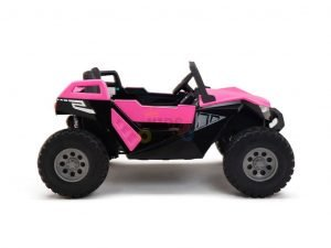 kids vip dune buggy challenger 24v sx1928 ride on kids 2 seater pink 1