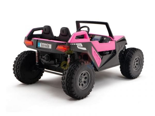 kids vip dune buggy challenger 24v sx1928 ride on kids 2 seater pink 4