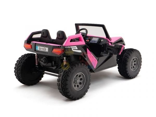 kids vip dune buggy challenger 24v sx1928 ride on kids 2 seater pink 7