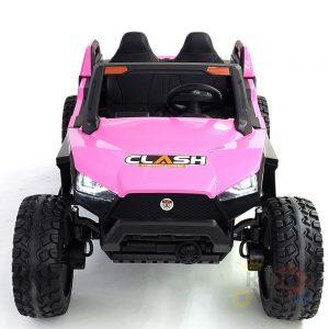kidsvip 2 seater ride on utv dune 24v rubber wheels toddlers kids pink 1