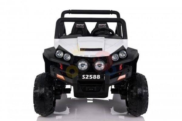 kidsvip utv buggy kids and toddlers ride on 2x12v rubber wheels 2588 white 1 1