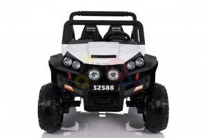 kidsvip utv buggy kids and toddlers ride on 2x12v rubber wheels 2588 white 1