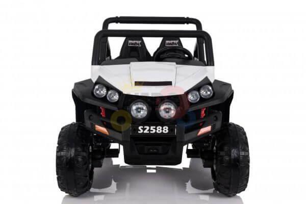 kidsvip utv buggy kids and toddlers ride on 2x12v rubber wheels 2588 white 14