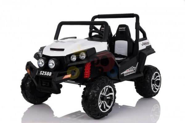 kidsvip utv buggy kids and toddlers ride on 2x12v rubber wheels 2588 white 15