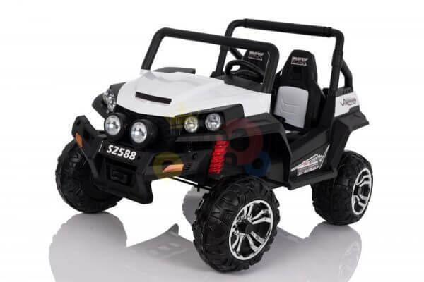 kidsvip utv buggy kids and toddlers ride on 2x12v rubber wheels 2588 white 18