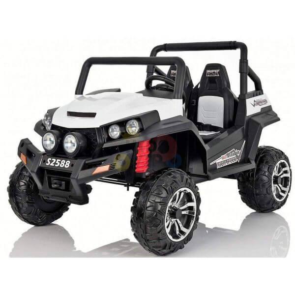 kidsvip utv buggy kids and toddlers ride on 2x12v rubber wheels 2588 white 20