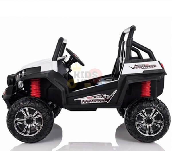 kidsvip utv buggy kids and toddlers ride on 2x12v rubber wheels 2588 white 4