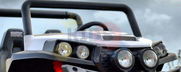 kidsvip utv buggy kids and toddlers ride on 2x12v rubber wheels 2588 white 6