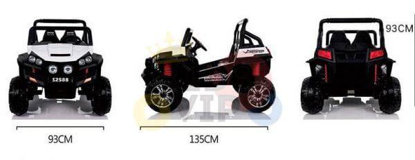 kidsvip utv buggy kids and toddlers ride on 2x12v rubber wheels 2588 white 7