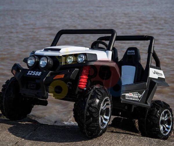 kidsvip utv buggy kids and toddlers ride on 2x12v rubber wheels 2588 white 8