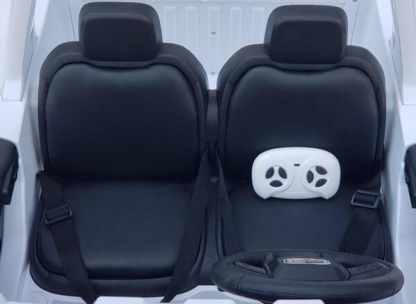 kidsvip gmc sierra kids ride on car 12v rubber wheels leather seat 2 seater red white black blue pink 3 1